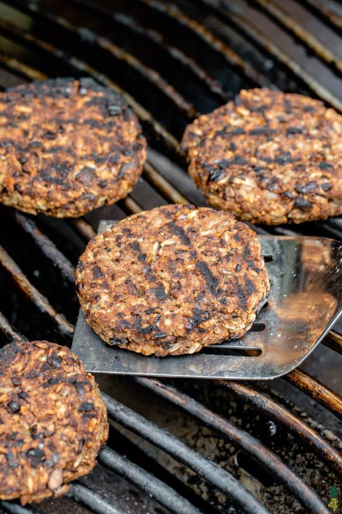 grilled vegan burgers