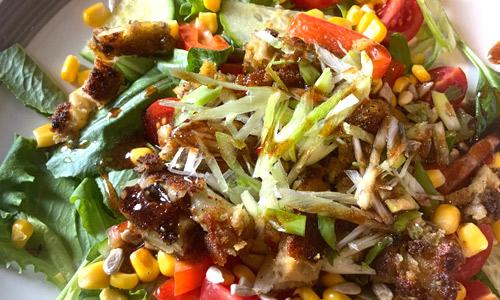 BeeFreeMeat crispy chicken salad